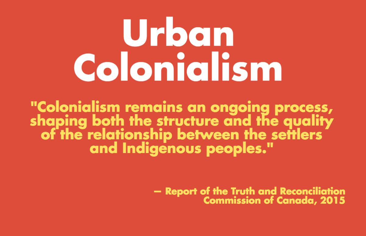 Graphic on urban colonialism